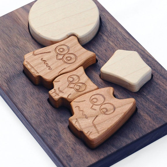 Owl Puzzle, eco-friendly wood toy for babies and toddlers