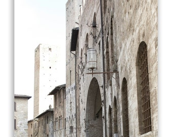 Neutral Wall Decor, home decor, cream, grey decor, Italy photos, Europe photography, stone architecture wall art - Fine Art Photograph