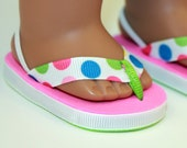 Flips: Doll Flip Flops - Multi Dot