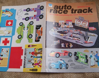 VIntage Whitman Auto Race Track Press Out book