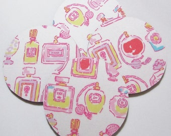 Coasters made with Lilly Fabric Resort White Spritz