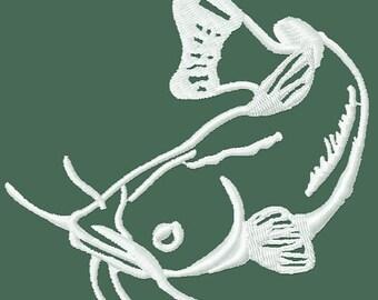 Instant Download Applique Catfish embroidery design - Machine Embroidery File - Machine Embroidery Design - Digital Design File