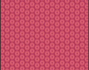 Art Gallery Oval Elements Dots in Cranberry 1 yard