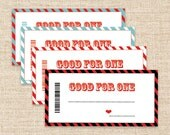 Printable Coupons - Valentine's Gift - Blank Coupons - Love Coupons - Birthday Gift - Last Minute Gifts