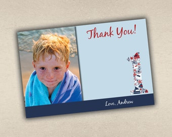 Nautical Thank You Card with Photo