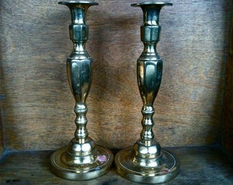 Vintage English Candle Holder Pair / Made in England / English Shop