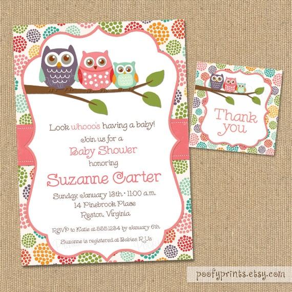 Breathtaking image regarding free printable owl baby shower invitations