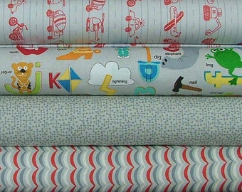Fat Quarter Bundle of Apple Jack in Gray by Tim and Beck for Moda