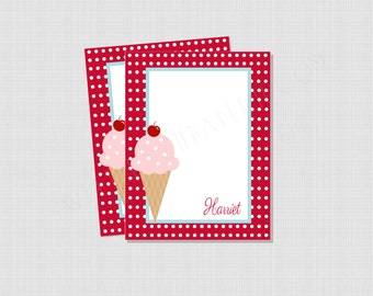 Ice Cream Parlor Collection: Personalized Flat Notecard