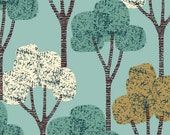 Autumn Trees Teal, limited edition giclee print