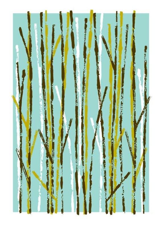 Sticks, limited edition giclee print