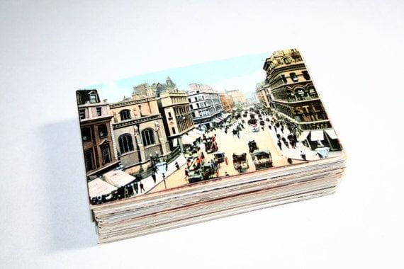 RESERVED FOR KEIRA - 100 Vintage London England Color Postcards Blank - Wedding Guestbook