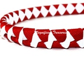 Red and White Twisted Woven Headband