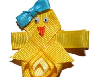 Spring or Easter Chick Hair Clip or Pin