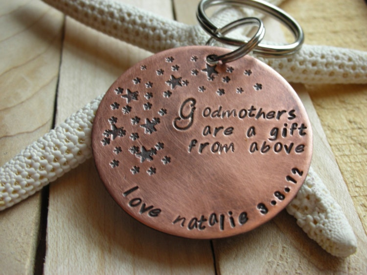 Godparent Keychain Gift For Godparents Gift For: Godparent Keychain Gift For Godparents-Gift By