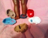 """Hand Beaded or Fringed Hand stitched Mock Moccasins great for American Girl Kaya  """"FREE Shipping"""""""