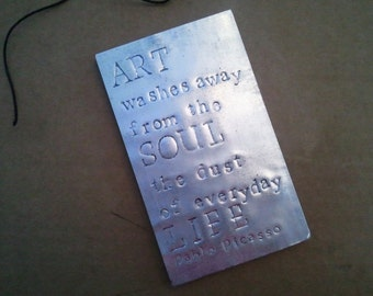 Large Soda Pop Can Embossed magnet quote