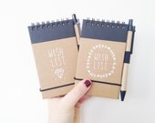 WISH LIST - hand illustrated pocket journal (with pen)