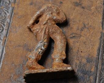 Antique original lead soldier. Headless soldiers.