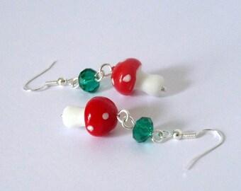 Fairy Toadstool Earrings