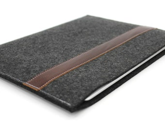 ipad AIR 2 sleeve.ipad case.ipad hd case.wool ipad case.leather ipad case.prairie style i pad black