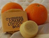 Moisturizing Cypress and Orange Cocoa Butter Lotion Bar – Aromatherapy – Wedding - Groom