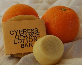 Moisturizing Cypress and Orange Cocoa Butter Lotion Bar – Aromatherapy – Wedding - Groom