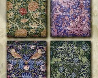 Art Nouveau Patterns Floral Postcard Size Antique Shabby Chic Decoupage Wallpaper Backgrounds Printable Papers Digital Collage Sheet wp 323