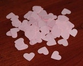 Pink Heart Confetti, Table Confetti, Die Cut, Bridal Shower, Wedding 1 inch