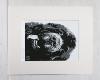 Black Newfoundland ART PRINT