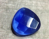 Large blue glass pendant