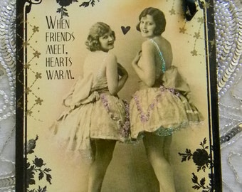 When Friends Meet Hearts Warm Decorative Plaque