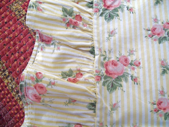 Vintage ralph lauren floral sheets queen size sheets pink rose sheets