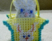 Yellow Easter Bunny Peek A Boo Basket