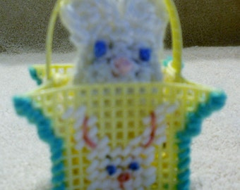 Yellow Easter Bunny Peek A Boo Basket