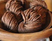 "Bulky Yarn Caramel Brown Handspun merino ""Glaze"" Soft Warm knitting supplies crochet supplies Hand Spun"