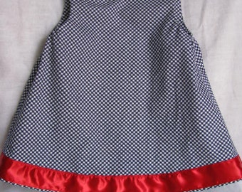 Blue and White A Line Dress Size 6 months