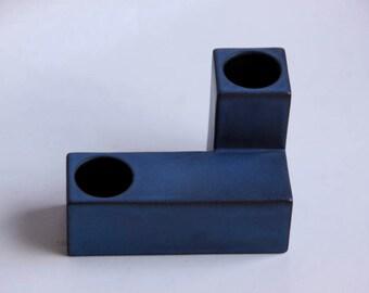 Mid Century Blue Cor Unum Vase (4)  - Dutch Pottery c.70s 80s