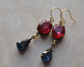 Estate Style Earrings Old Hollywood Glamour Vintage Inspired Amethyst Pink Purple  Formal Occasions, Weddings, Bridesmaids