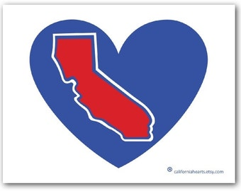 The Lob City California Heart Decal