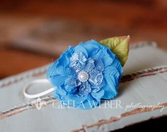 Blue Baby Headband, Blue Children Headband, Blue Newborn Headband, Flower Headband, Baby Flower Headband, Blue Headband, Flower Headband