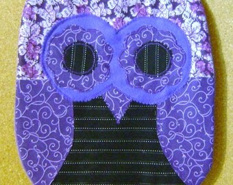 Handmade  Purple Passion Owl Pillow CUSHION  w/Wings Perfect  Gift  For Any Occasion