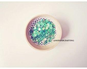 Sequins Iridescent - Clear Emerald
