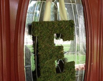 Moss Monogram Wreath // Moss Initial //  Moss Monogram Hanging