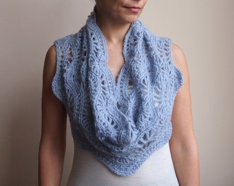 Infinity scarf Crochet Pattern circle scarf woman ripples crochet pattern  loop scarf crochet pattern DIY photo tutorial Instant download