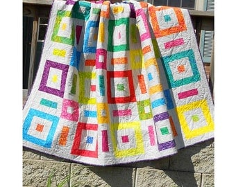 Quilt Pattern -  PDF INSTANT DOWNLOAD - Soho Sanctuary - Easy Jelly Roll Quilt Pattern