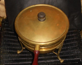 BOHO Brass and silver plate chafing double food warmer