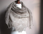 reserved Orchid Love - hand knitted shawl