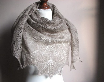 Orchid Love - hand knitted shawl