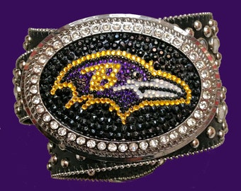 Baltimore Ravens Crystal Belt Buckle... Super Bowl  XLVII